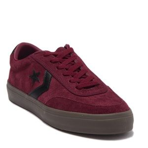 Converse Red Burgundy Suede One Star Sneakers 9